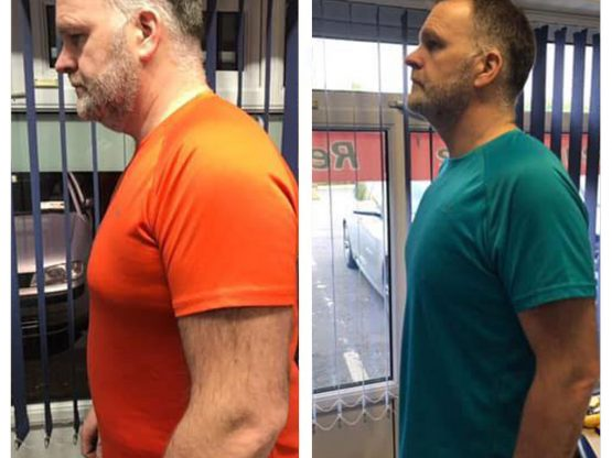 Man weight loss transformation Clonmel