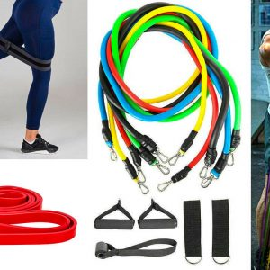 Red resistance stretching workout band